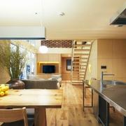 89平日式温馨复式楼欣赏餐厅设计