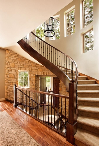 简欧风格效果图入户楼梯