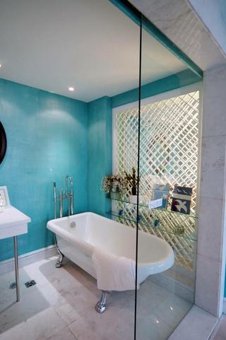98平蓝色地中海住宅欣赏卫生间