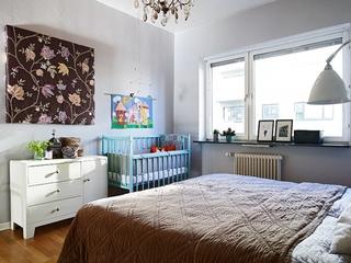 白色质感宜家三居室欣赏卧室效果