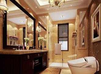 经典法式奢华别墅欣赏洗手间