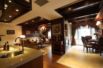 咖啡色欧式样板房欣赏厨房陈设