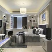 现代极简两居室欣赏卧室背景墙