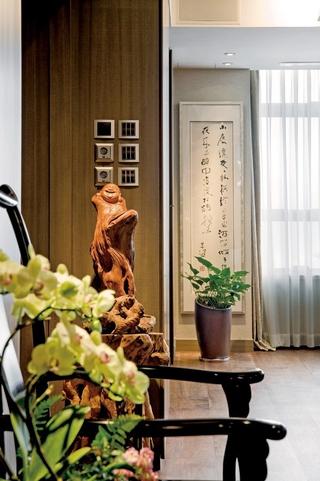 浓郁新中式三居室欣赏客厅开关设计