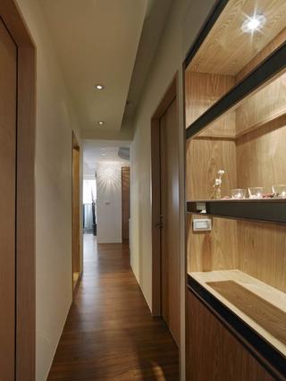 79平简约风温馨住宅欣赏过道室内门