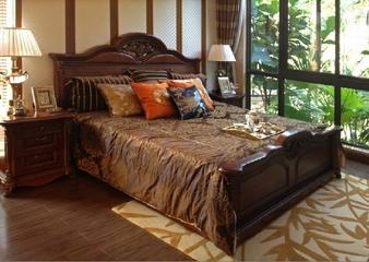沉稳东南亚风格住宅欣赏卧室陈设