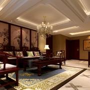 中式风格设计样板房效果图客厅效果