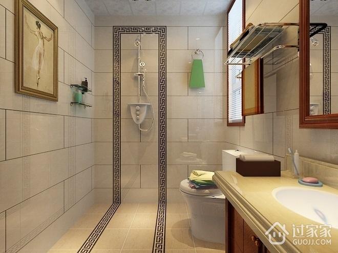 109平新中式住宅欣赏卫生间吊顶设计