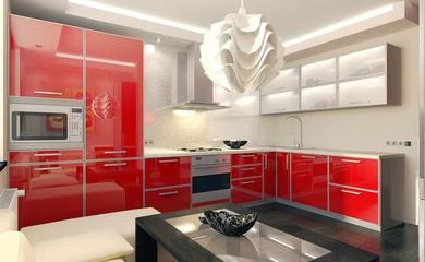 艳丽色彩简约住宅欣赏厨房设计