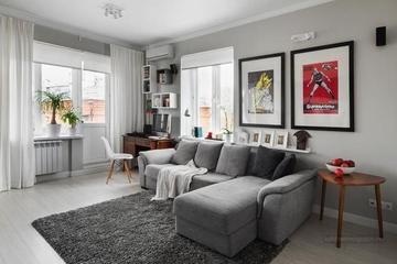灰色调简约住宅一居室欣赏
