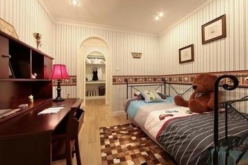 清新卧室书桌架设计效果图 回归自然