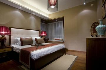 雅致中式三居室案例欣赏卧室飘窗