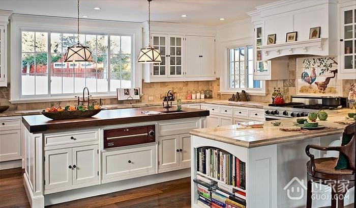 豪华欧式别墅效果图厨房摆设_过家家装修效果图