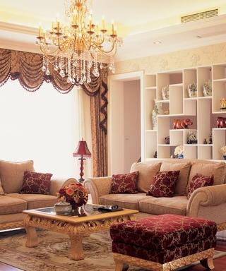柔美线条奢华欧式欣赏客厅陈设
