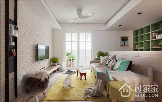 90平二居室装修 淳朴自然的田园风格