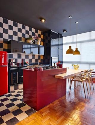 现代舒适彩色公寓欣赏厨房设计