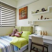 清新现代卧室床装修效果图 温暖四口之家