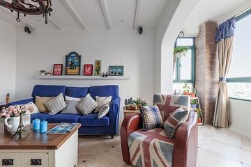 125平蓝白地中海住宅欣赏