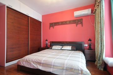 地中海风格卧室背景墙