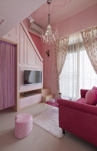 粉色淡雅简约住宅欣赏客厅陈设