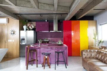 时尚前卫多彩复式欣赏厨房