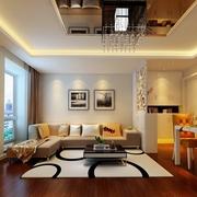 68平简约两居案例欣赏客厅吊顶