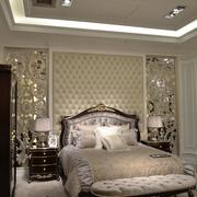 法式风三居住宅欣赏卧室背景墙设计
