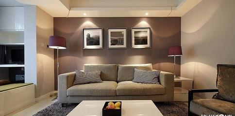 柔和简单生活 简约客厅照片墙设计图片