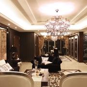 奢华新古典客厅餐厅效果