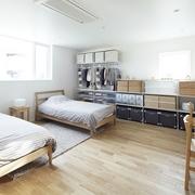 112平日式风格住宅欣赏卧室设计图