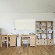 112平日式风格住宅欣赏书房