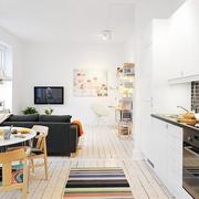 40平迷人公寓欣赏餐厅
