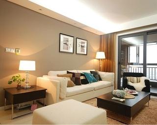 温馨婚房装修两居室欣赏客厅