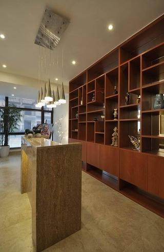 185平新中式样板房欣赏客厅设计