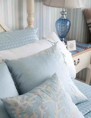 地中海清凉一夏住宅欣赏卧室局部