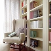 白色三居现代风格效果图书房