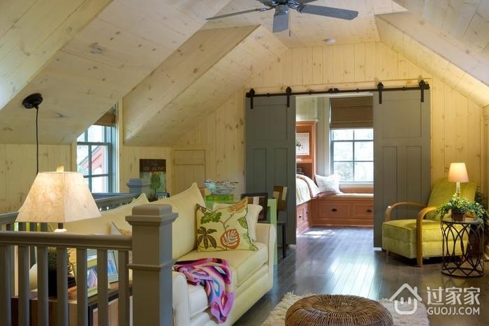 田园风格效果图起居室图片