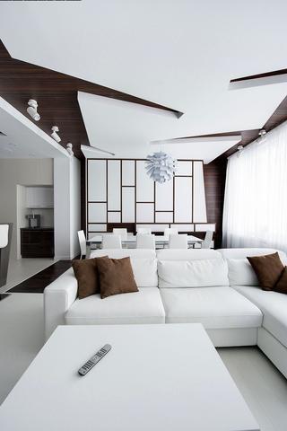 现代全白公寓客餐厅