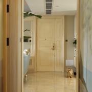 时尚大气 欧式客厅室内门装修效果图
