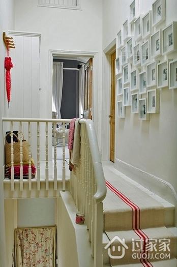 灰色系迷人混搭家欣赏楼梯间