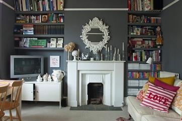 灰色系迷人混搭家欣赏背景墙