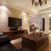 98平美式稳重住宅欣赏客厅局部
