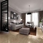 82平简约极致空间欣赏客厅设计