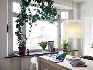 白色北欧小两居案例欣赏书房窗户