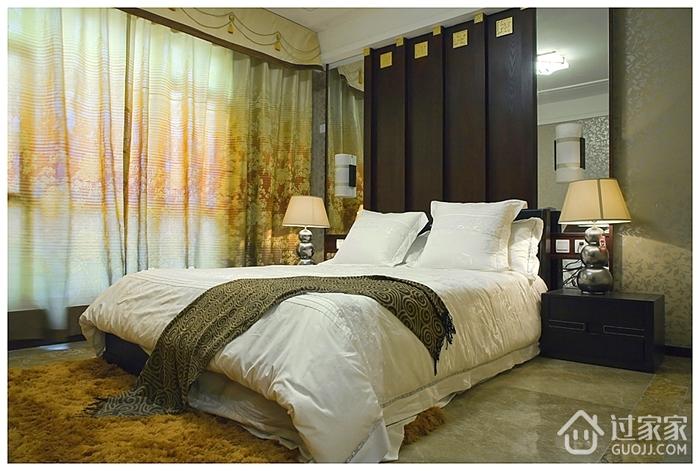 卧室落地窗帘