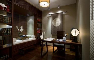 雅致中式三居室案例欣赏书房飘窗