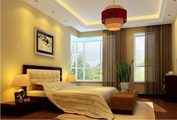 120平中式雅居欣赏卧室窗帘