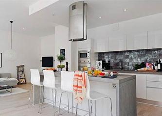 68平白色北欧住宅欣赏厨房