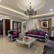 新古典160平奢华大宅欣赏客厅全景