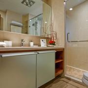 新古典样板房浴室橱柜